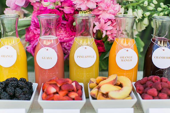 Organic Juice Bar at Your Wedding