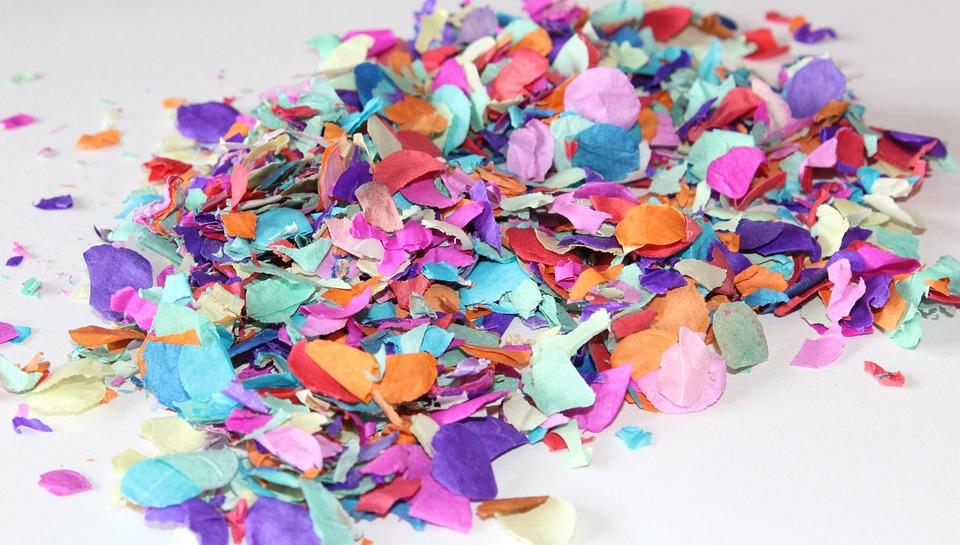 Pile of colorful confetti