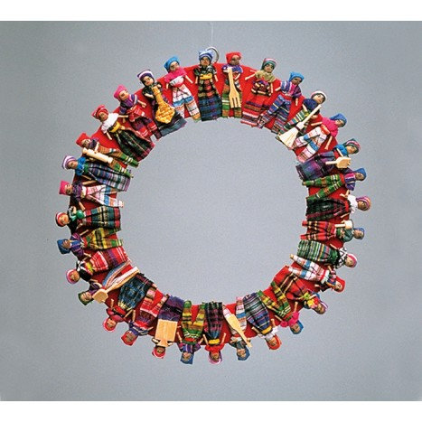 Wreath of different people