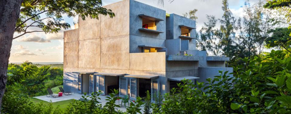 Natural concrete house
