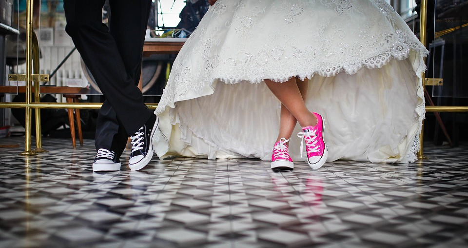 Bride and Groom's Feet