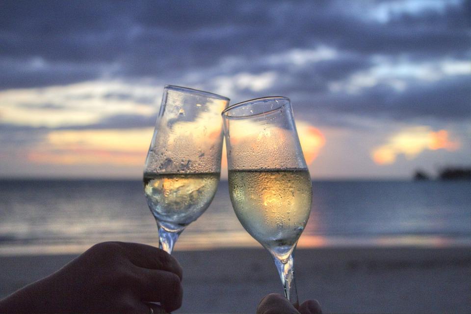 Glasses at sunset