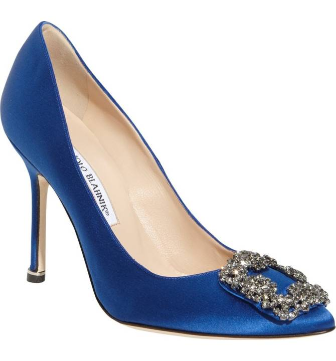 Blue wedding shoe