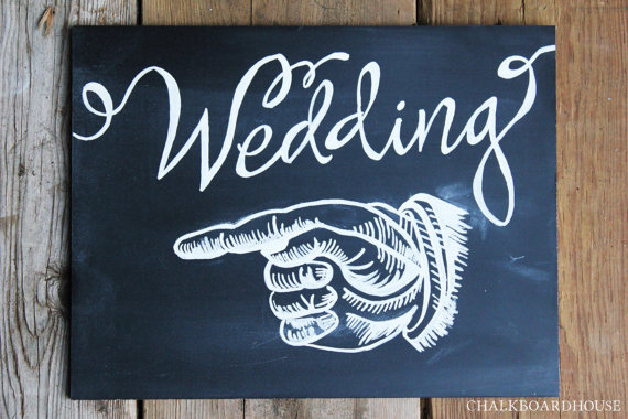 Sweet and Simple DIY Wedding Sign Designs