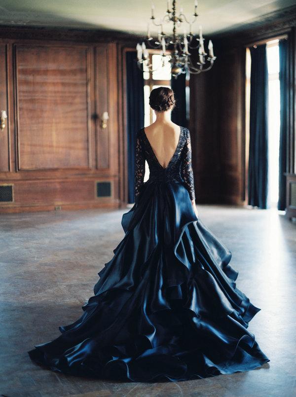 Woman in dark dress