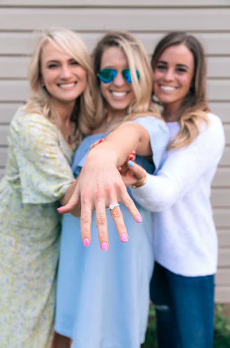 Three women engagement