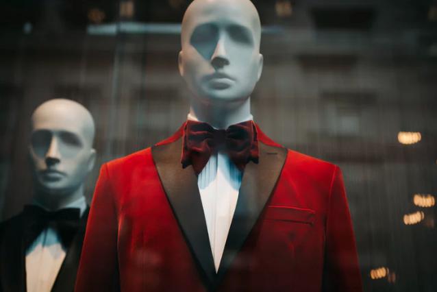 Mannequin in a tuxedo