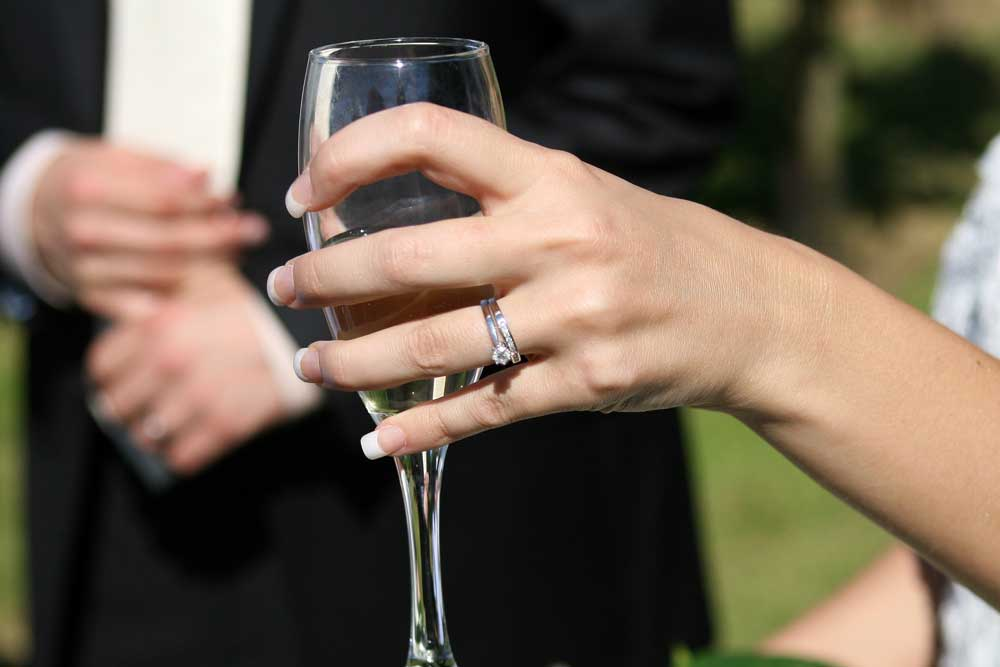 Engagement Ring at Wedding