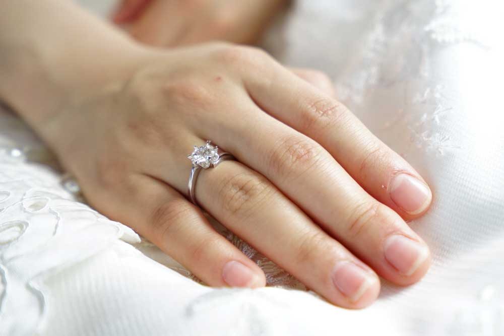 Engagement Ring on Hand