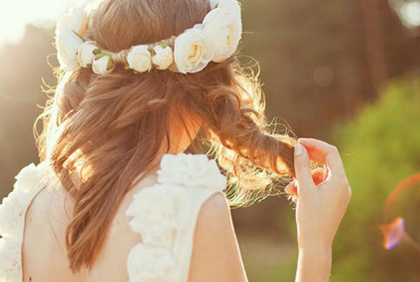 Bride Twirling Hair