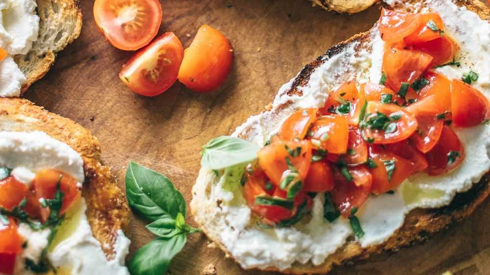 Basil and Tomato Bruschetta