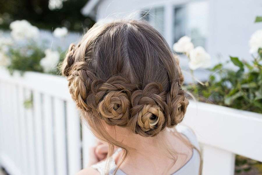 Awesome Up-Do Ideas for the Flower Girl