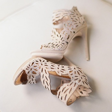 Nude Heels with Rhinestones