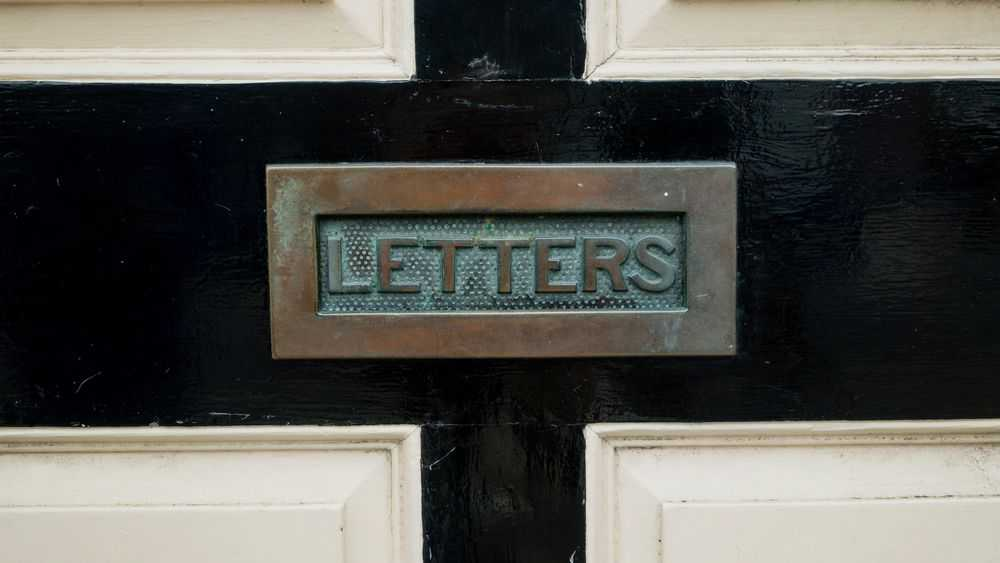 opening on the door for letters