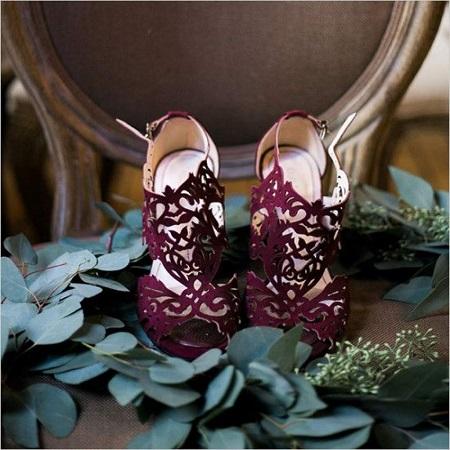 The Burgundy Heels