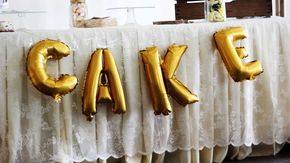 Balloon Inscription Cake