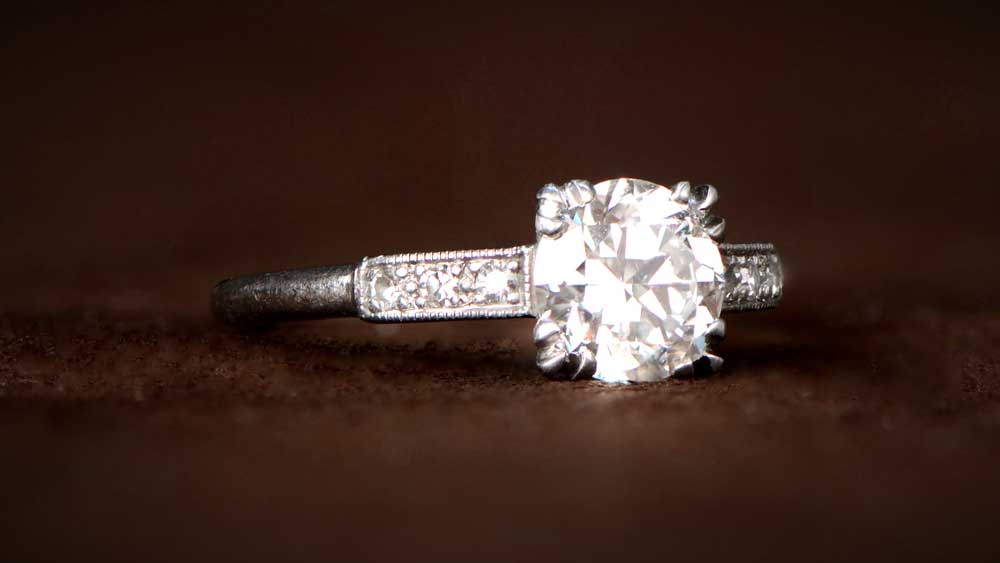 Diamond Engagement Ring Circa 1920