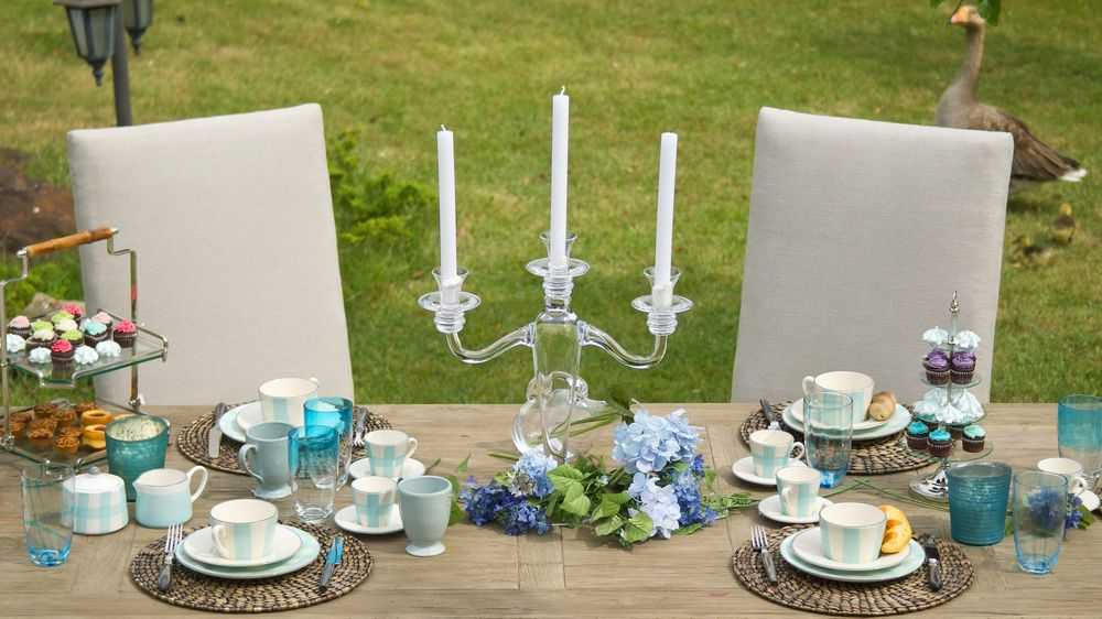 candle holder as centerpiece