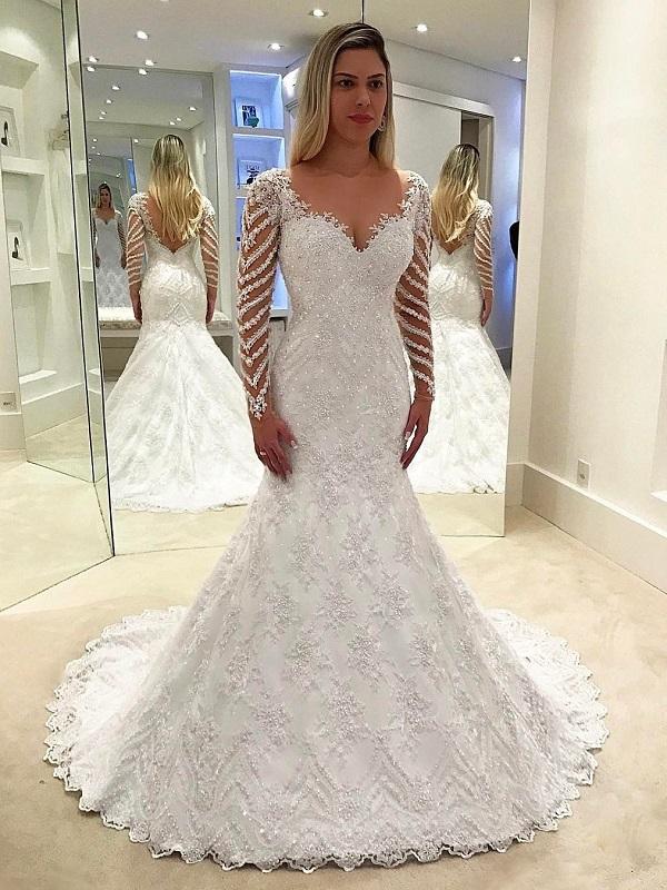annapromdress mermaid long sleeve dress