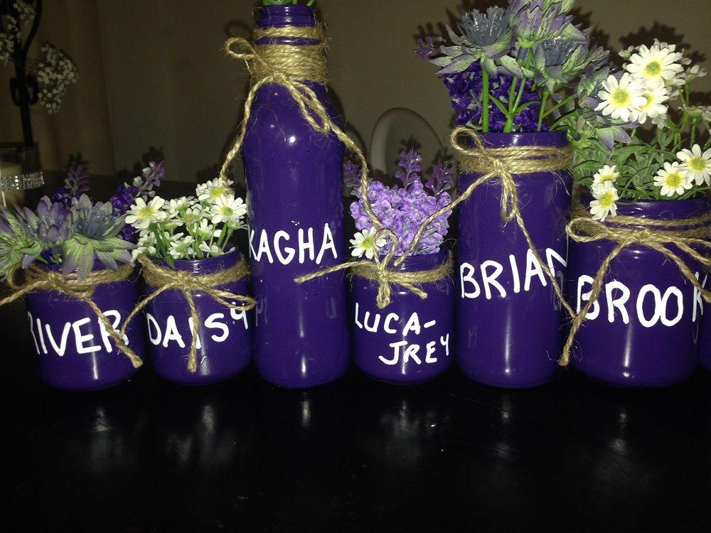 decor bottles favors
