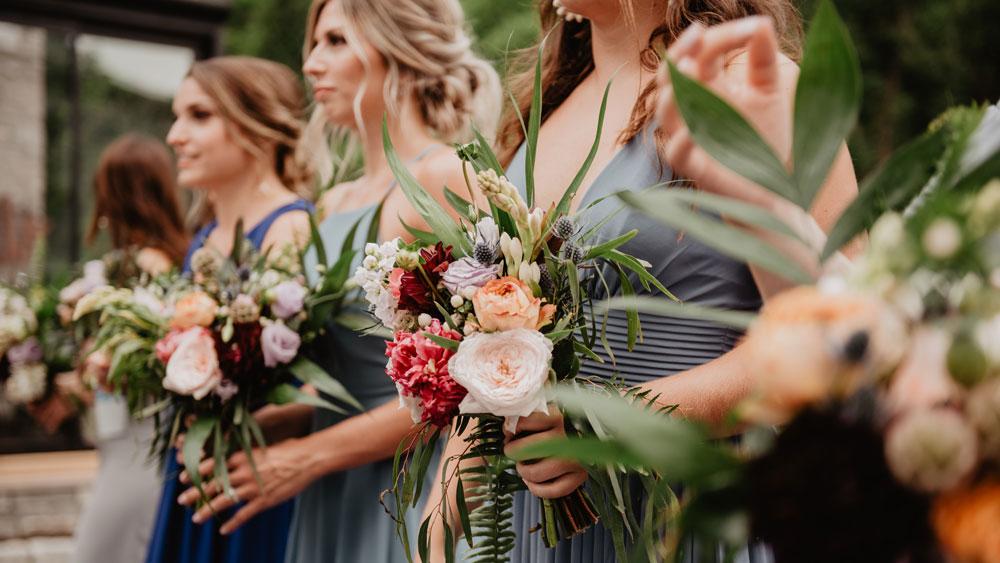 Bridesmaid holding Flowers