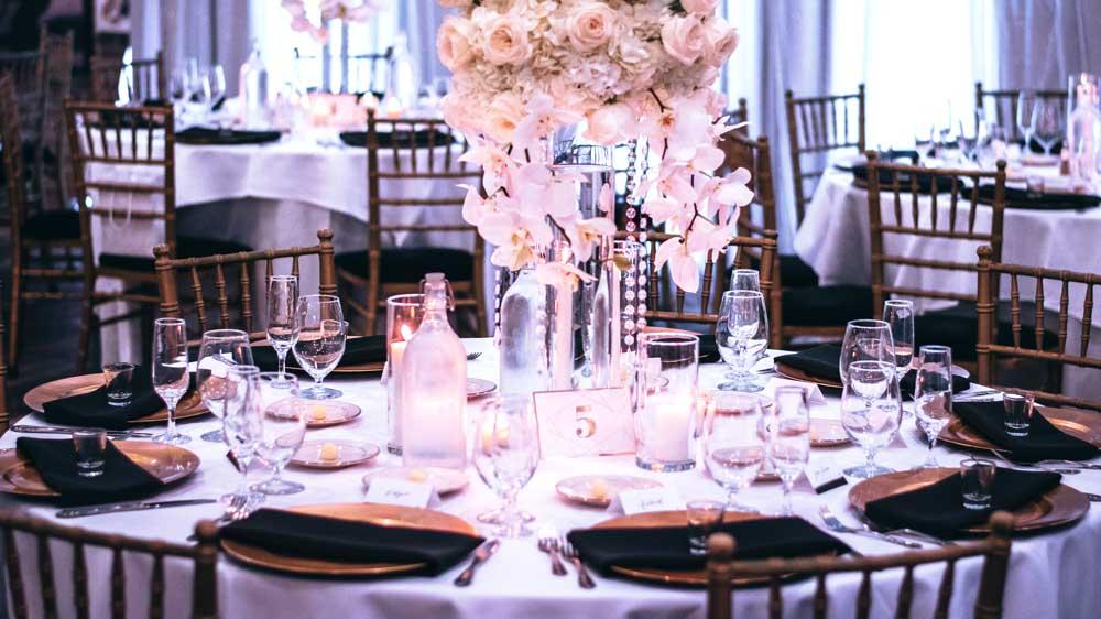 eco friendly venue table