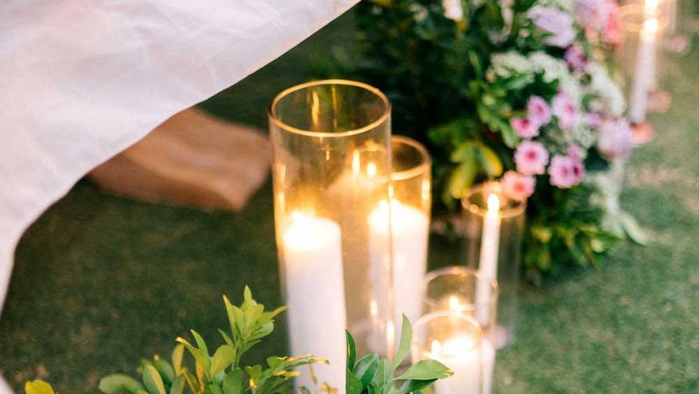 Candles at Wedding Romantic