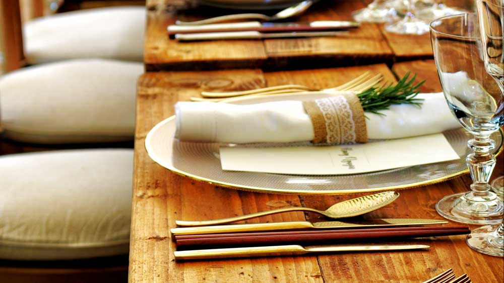 Table Set for Wedding Eco Friendly